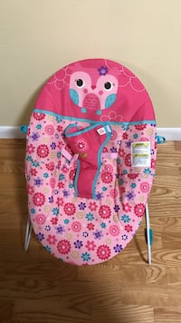 baby's white frame pink floral bouncer set Robertsdale, 36567