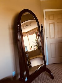 brown wooden framed cheval mirror Edmonton, T5T 6S6
