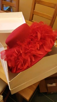 Ladies Red wool hat, red hat club Virginia Beach, 23464