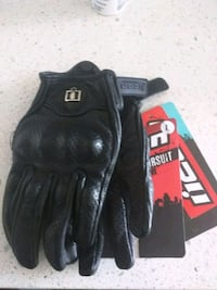 Black genuine leather motorcycle gloves size L Toronto, M5A 3H6