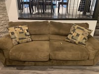 Brown fabric sofa, loveseat and chair set 3159 km