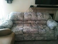 gray and brown floral 3-seat sofa Henderson, 89015