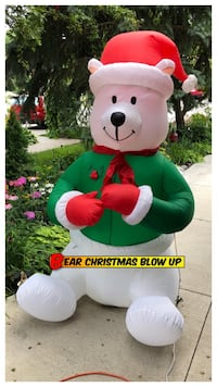 SALE Bear Christmas Blow Up 6ft
