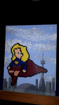 Supergirl Flying Over Toronto, custom art