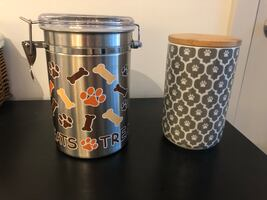 Dog treat containers