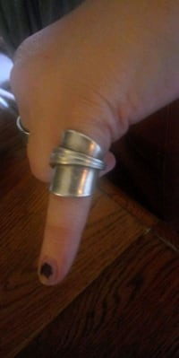 "Pure silver""not plated"" spoon ring. 1920's Shelbyville, 37160"