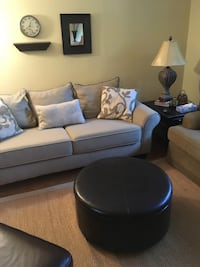 black and white leather sectional couch Mississauga, L5V