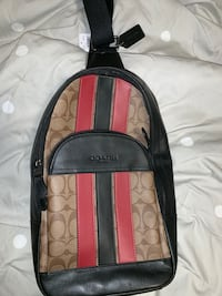 Coach strap backpack