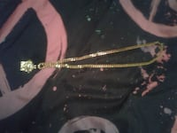 Gold plated Versace  necklace  with Versace pendan Toronto, M2K 2C8