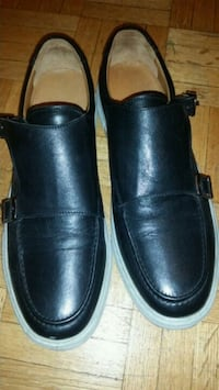 pair of black leather slip on shoes Markham, L3T 2E9
