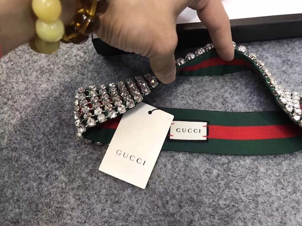 Green and red gucci belt