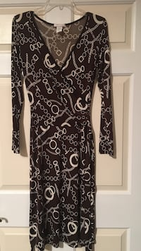 Brown and white floral long-sleeved dress size L Los Angeles, 90049
