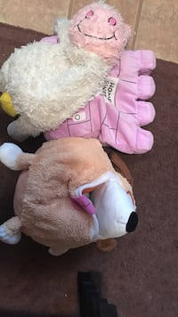 brown and pink bear plush toy