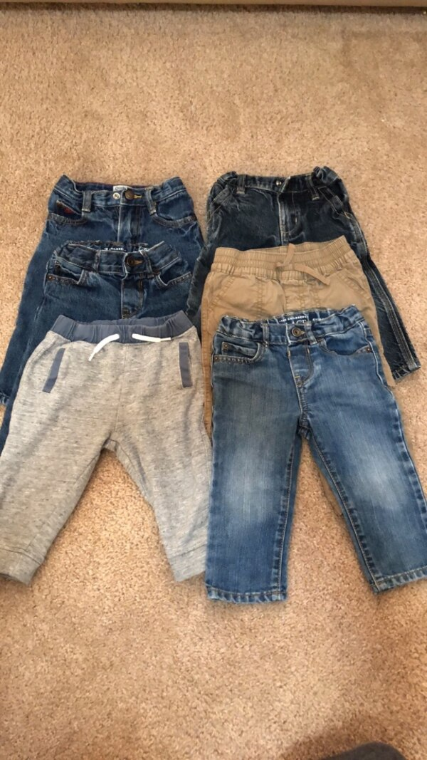 Boys pants size 12M and 12-18M