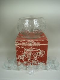 Celebration Punch Bowl Set by Indiana Glass In Ori Lancaster