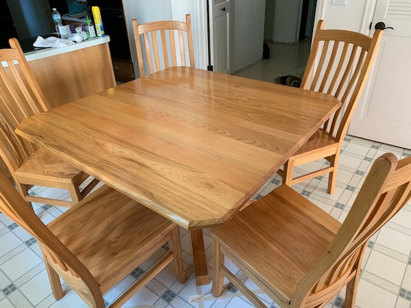 Groovy Amish Solid Hickory Dining Table And Chairs Beutiful Home Inspiration Cosmmahrainfo