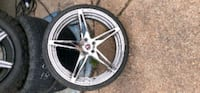 Set of used rims with brand new tires  Mobile