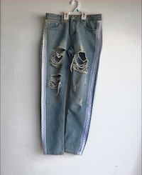 Boho Women's Gemma All over Ripped Jeans Size US 4 UK 8 Los Angeles, 91606
