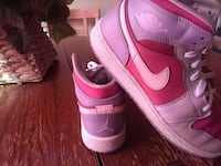 pair of pink-and-red air jordan North Las Vegas, 89030
