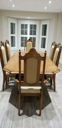 brown wooden dining table set Vaughan, L4J 7W1