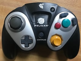 Pelican G3 Wireless Black Controller For GameCube No Receiver
