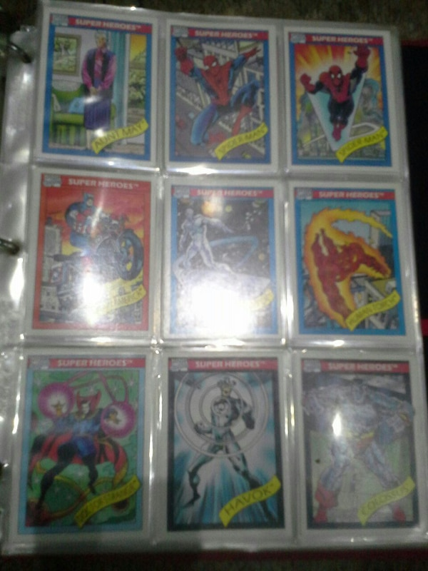 Marvel hero trading card collection