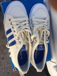 Adidas Nizza Shoes - Off White/Blue SIZE 9 Lynwood