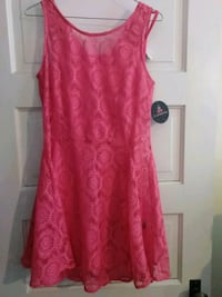 women's red floral sleeveless dress Ontario
