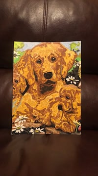 Homemade Painting of Dogs
