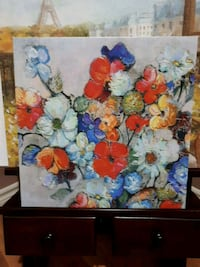 assorted color flowers in vase painting