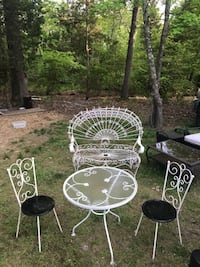 two white metal patio chairs Irmo, 29063