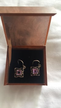 Real Amethyst earrings  Mississauga, L5K 1K1