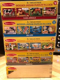 5 Melissa and Doug puzzle sets Toronto, M1P 4B2