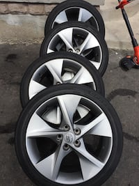See of 4 tires and rims all season Michelin Toyota Camry size 225/45/18 Brampton, L6R 3M6