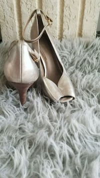 pair of brown leather pointed-toe heels Silver Spring, 20901