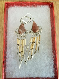 Bamboo n prescious stone earrings Norfolk, 23505