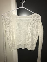 Abercrombie knit gray lace sweater