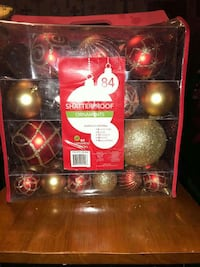 red and gold Shatterproof Christmas bauble pack San Antonio, 78220