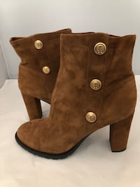 ISAAC MIZRAHI HAZELNUT SUEDE NON-SKID BOOTS, SIZE 10 M Sandy Springs, 30342