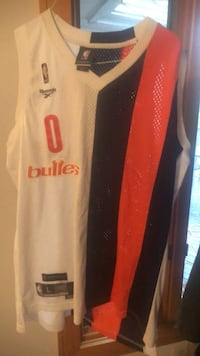 white and orange Adidas jersey shirt Springfield, 22150
