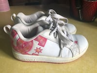 pair of white-and-pink Adidas Superstar Three Forks, 59752