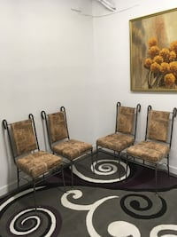4 Egyptian wrought chairs Abbotsford