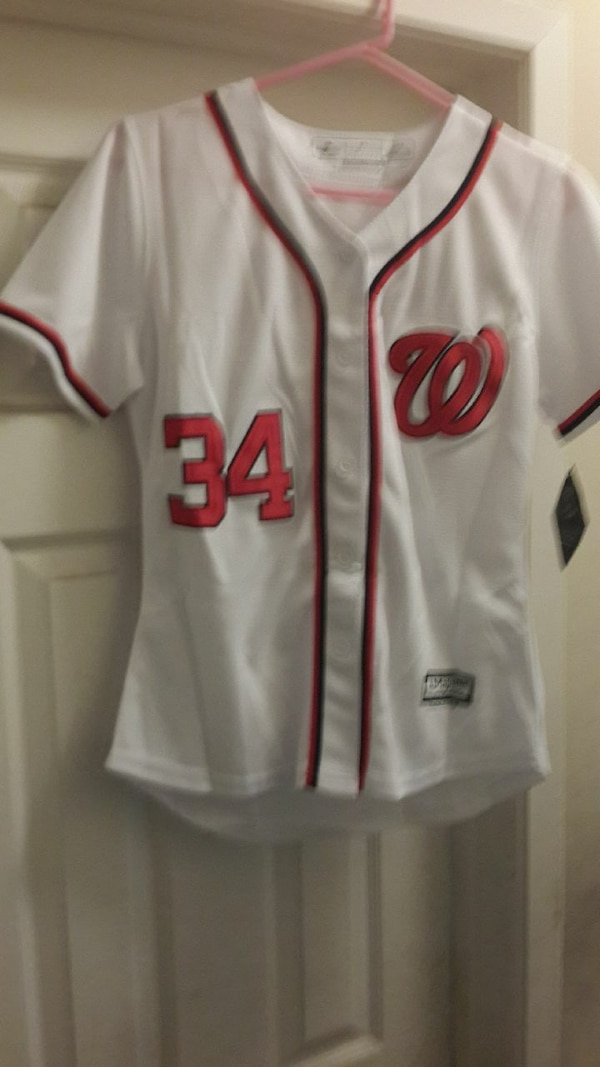 newest d44d4 14041 Bryce Harper Nationals jersey