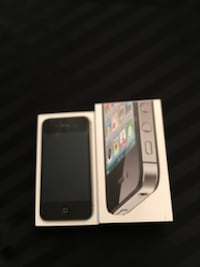 black iPhone 4 with box