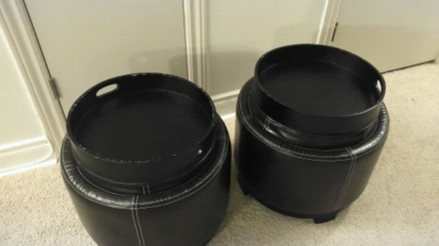 Faux leather stools with storage and trays 4d8ef135-6e4b-4eb4-a9f1-761b624ac398