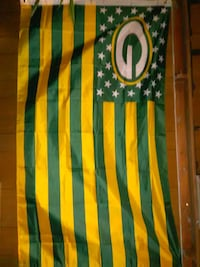 U.S. flag Green Bay Packers banner Erie, 16510
