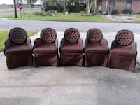 5 round back fabric chairs with metal frames  Westwego, 70094