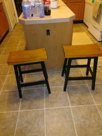 two brown wooden bar stools Harford County, 21085