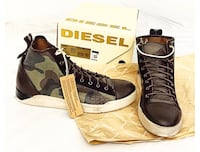 Diesel Hightop Leather Sneakers size 10.5 Coquitlam, V3K 2J3