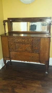 brown wooden dresser with mirror Port McNicoll, L0K 1R0